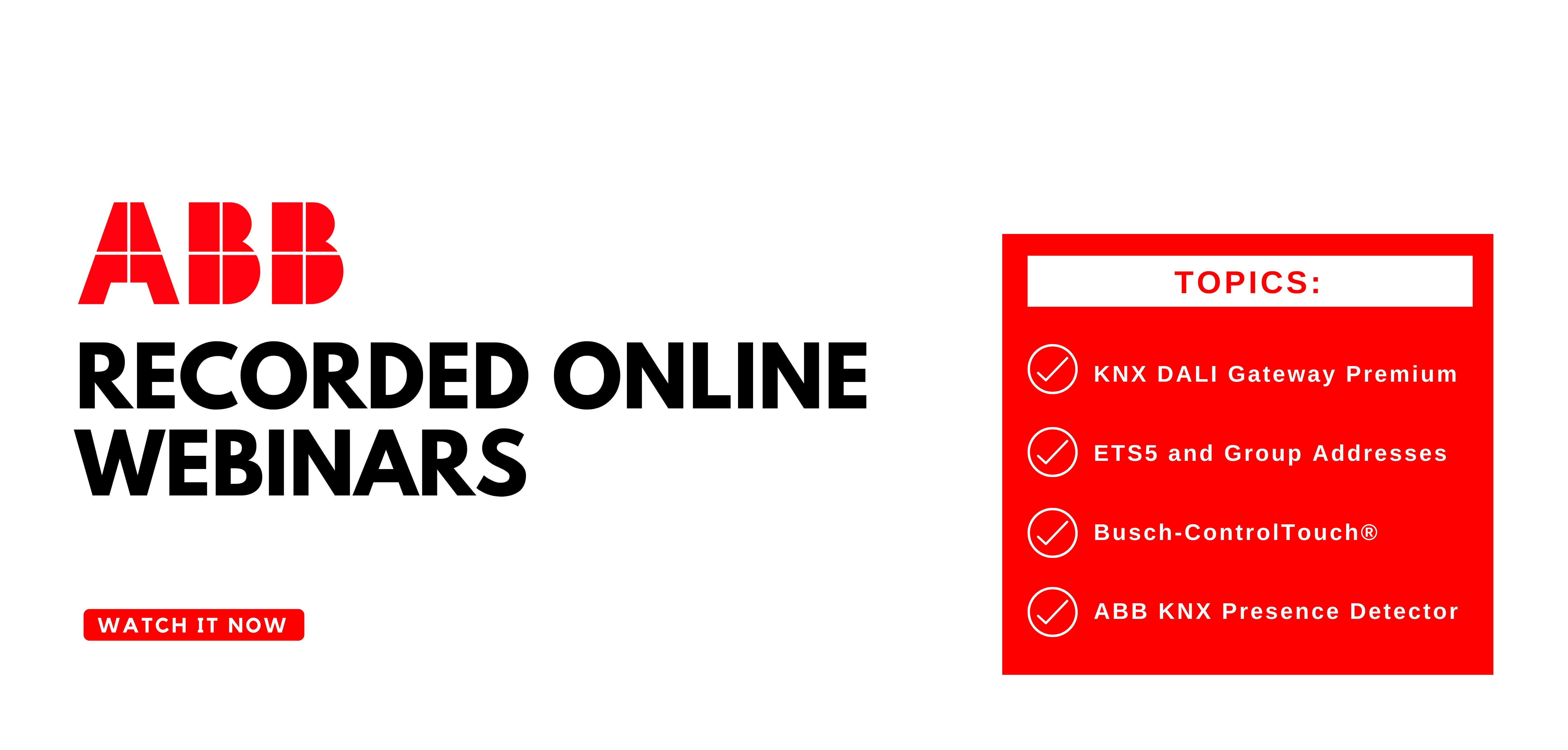 ABB record online webinars