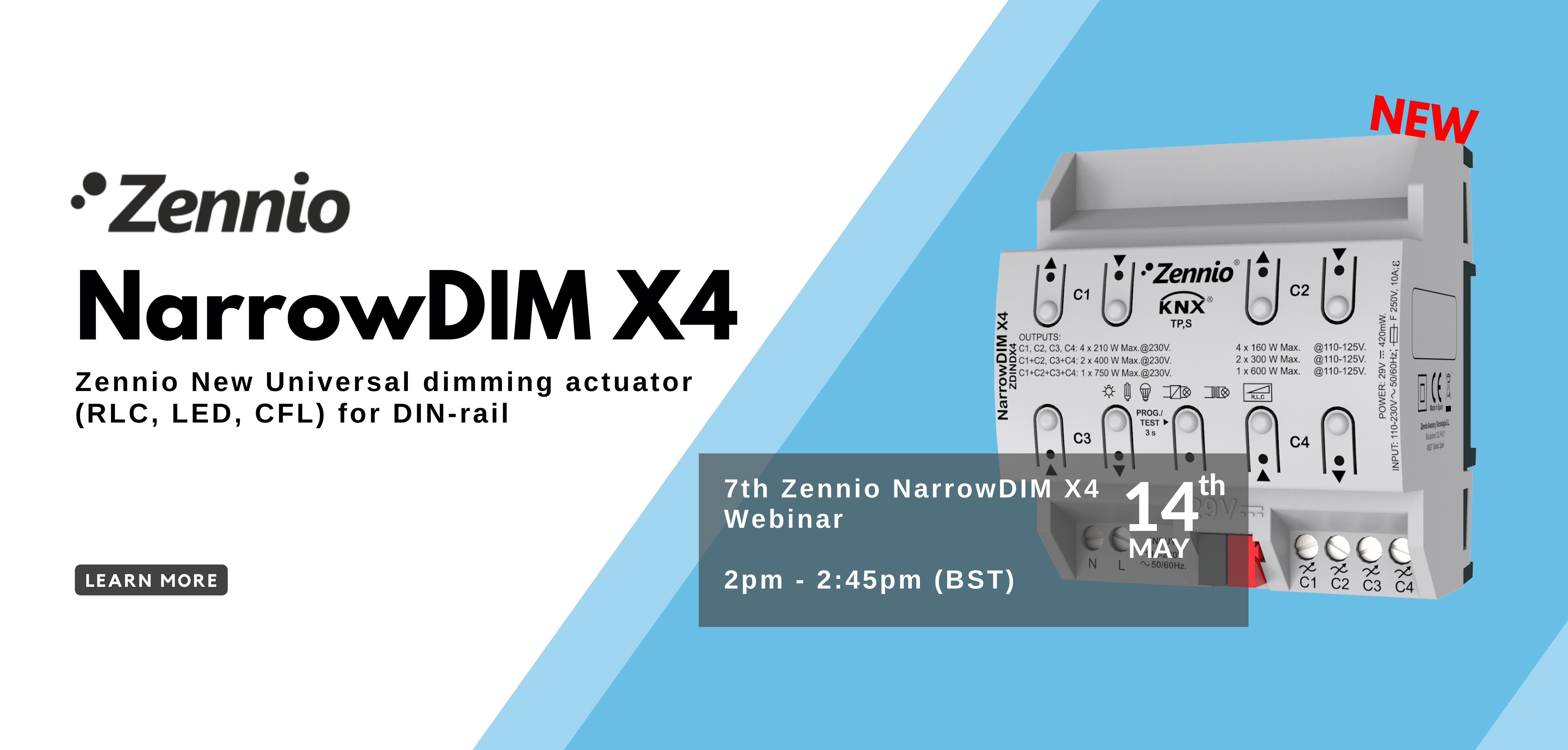 7th Webinar: Zennio NARROWDim x4